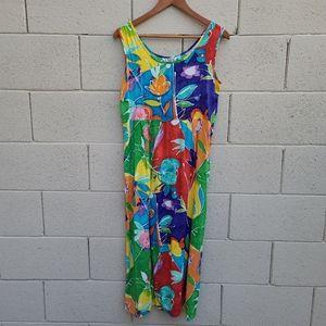 Jams World   Wax Flower Colorful Midi Dress Size S